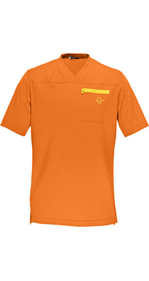 Norrøna M's Fjørå Equaliser Lightweight T-Shirt Pure Orange